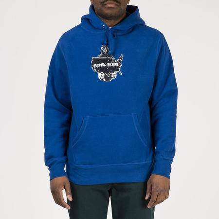 supra distribution Fucking Awesome Reaper Pullover Hoodie - Royal