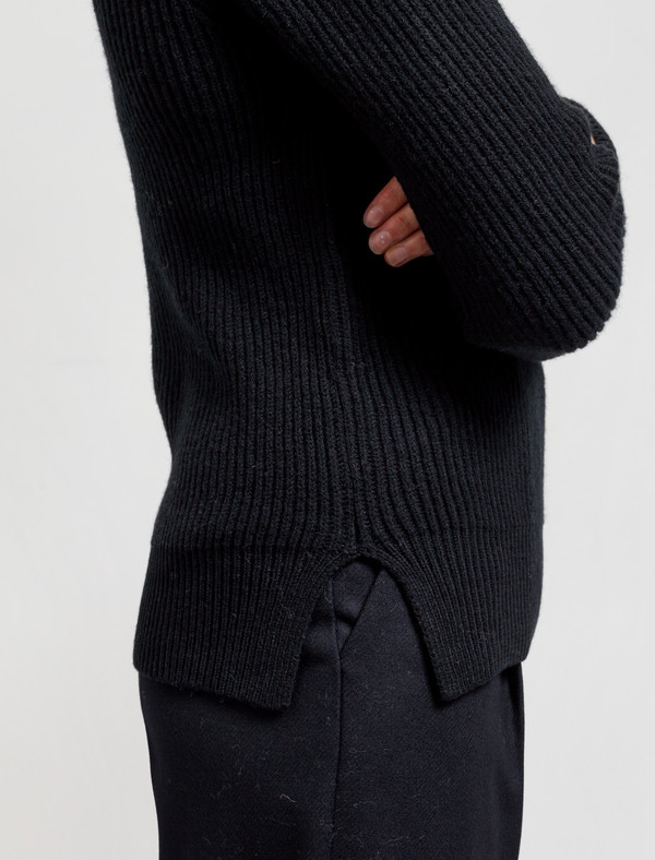 Norse Projects Hege Lambswool Sweater Black