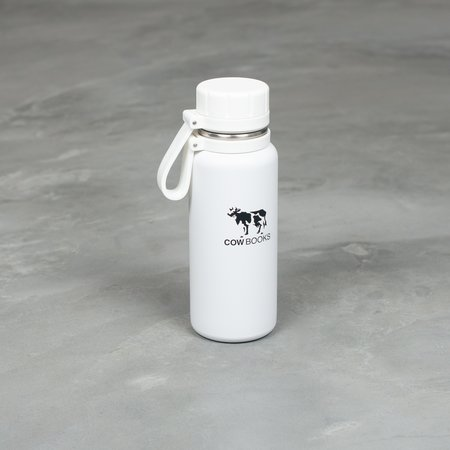 COW BOOKS Stainless Bottle - White