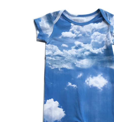 Kids Romey Loves Lulu Clouds Short Romper