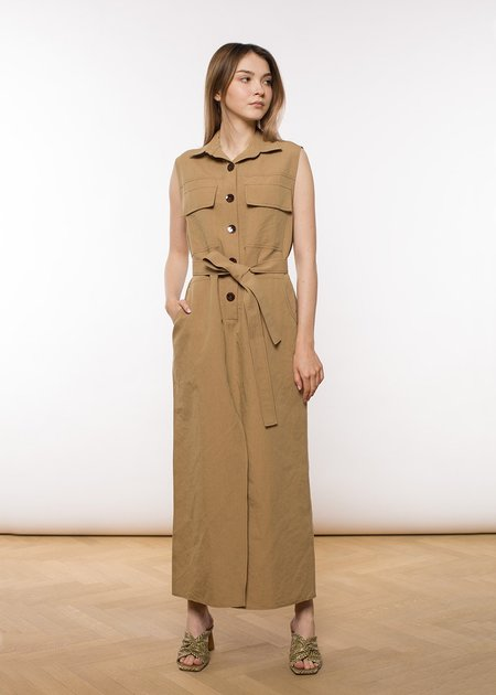 ÁERON Sherry Long Shirtdress - Taupe