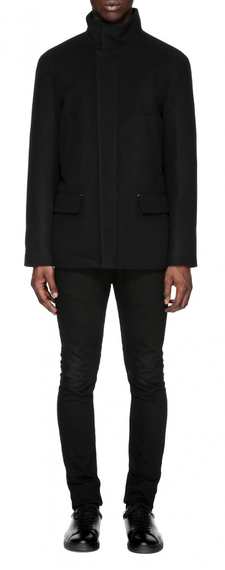 Mackage Wilfred Flat Wool Coat - black