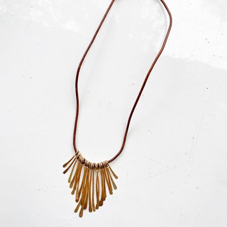 [Pre-loved] Mary MacGill Fringe Necklace - Brown
