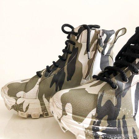 [Pre-loved]Miu Miu Camo Platform Sneakers - Camoflage