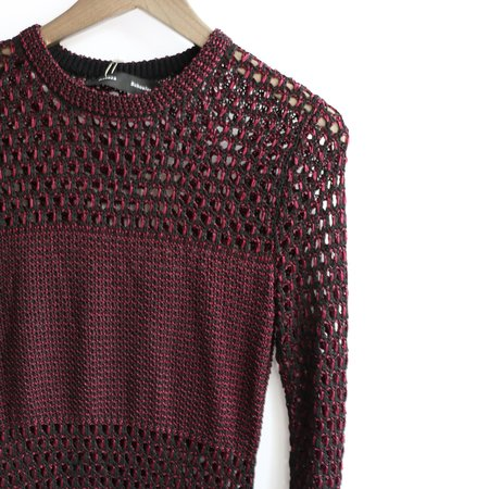[Pre-loved] Proenza Schouler Mesh Knit - Burgundy