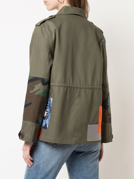 Harvey Faircloth Army Patch Jacket - Olive Green