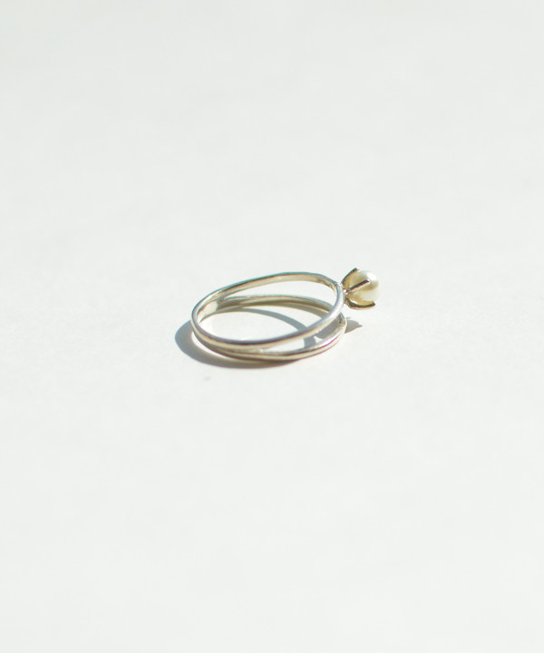Bing Bang NYC Bing Bang Silver Pearl Illusion Ring