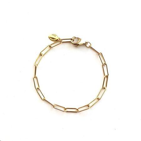Jennifer Tuton Open Links Chain Bracelet - 24K Gold Overlay