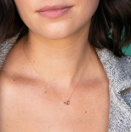 Adina Reyter Pavé Interlocking Loop Necklace - 14K Gold