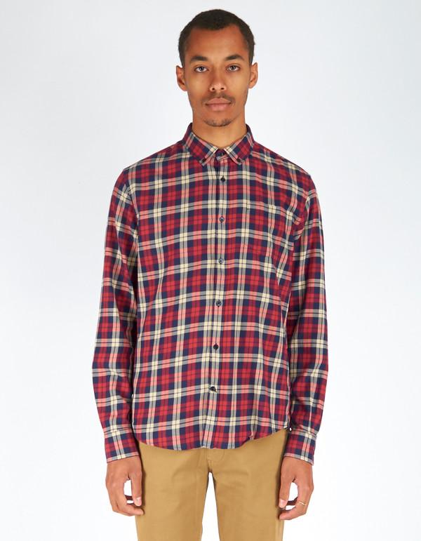 Men's Woolrich John Rich & Bros. Archive Check Shirt Red