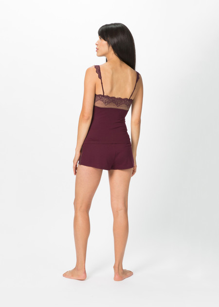Only Hearts So Fine Square Neck Cami - Wine