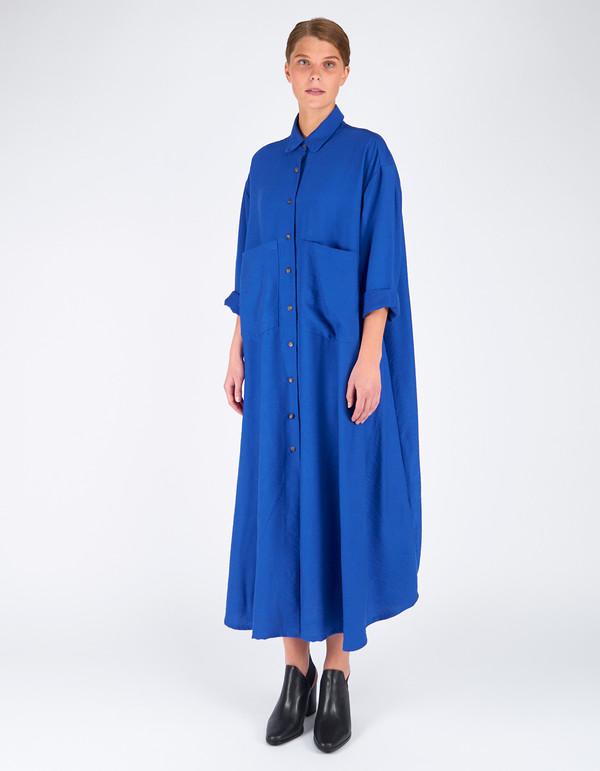 Sunja Link Shirt Dress Electric Blue