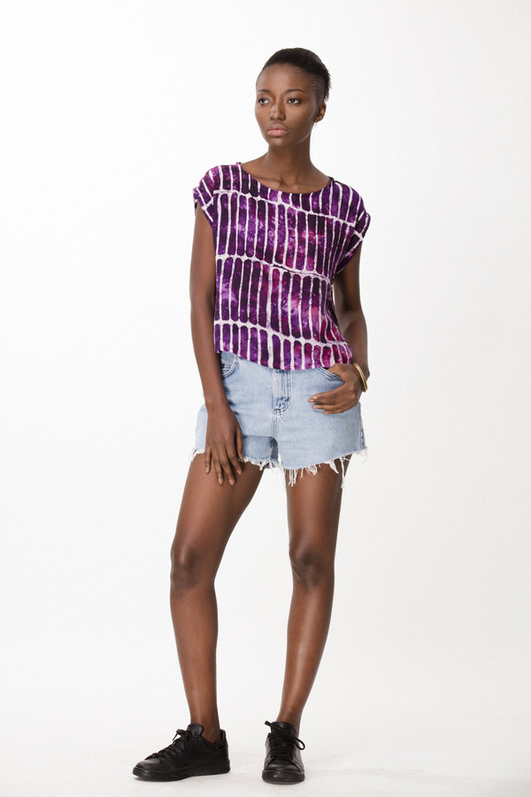 Osei-Duro Maena Shell in Fuchsia Chalk