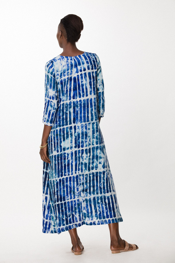 Osei-Duro Nima Dress in Marine Chalk