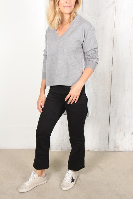 Alexander Wang Merino Combo Pullover - Gray