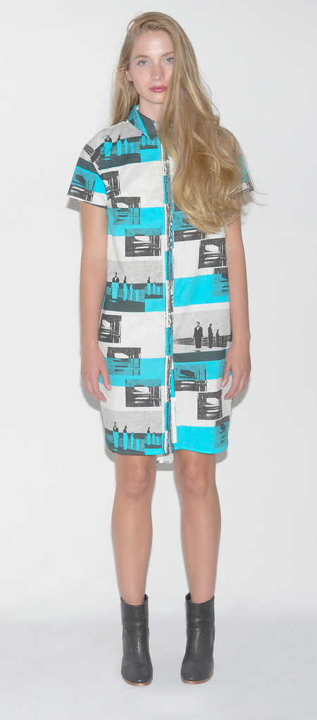 "One Imaginary Girl ""Pascal"" Cocoon Shirt Dress"