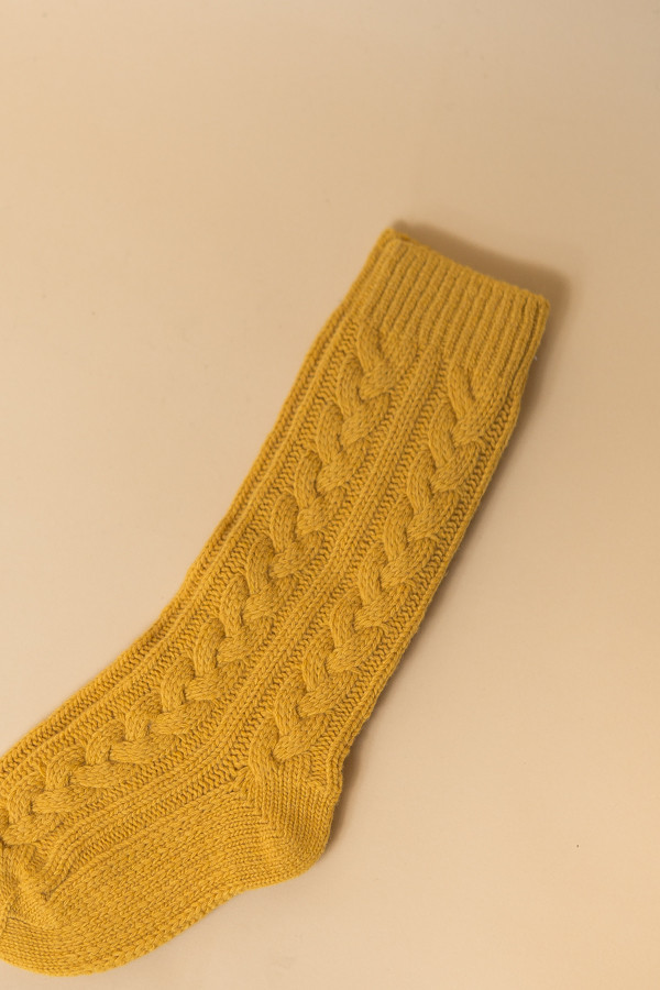 Reality Studio Cable Socks - Mustard