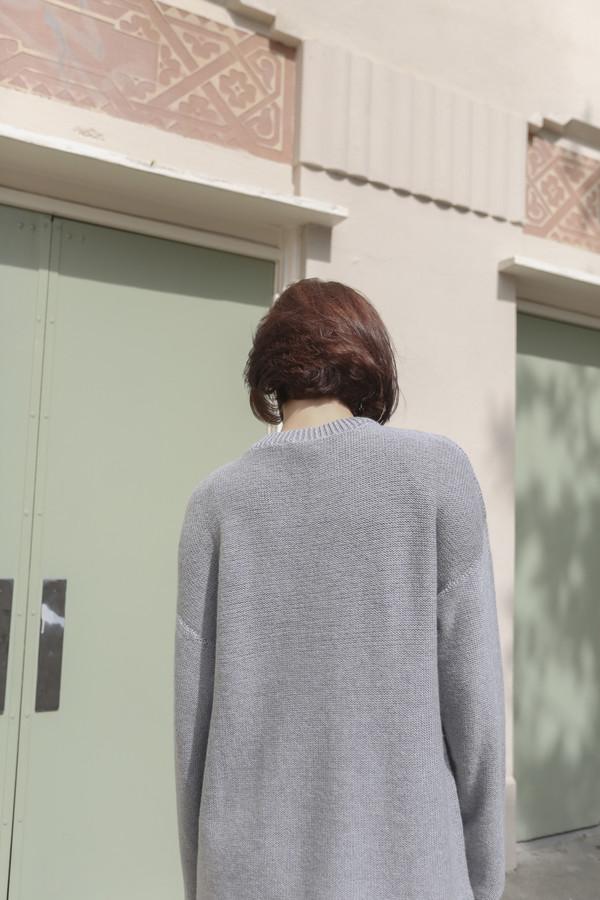 Baserange Sylvie Pullover in Grey Melange