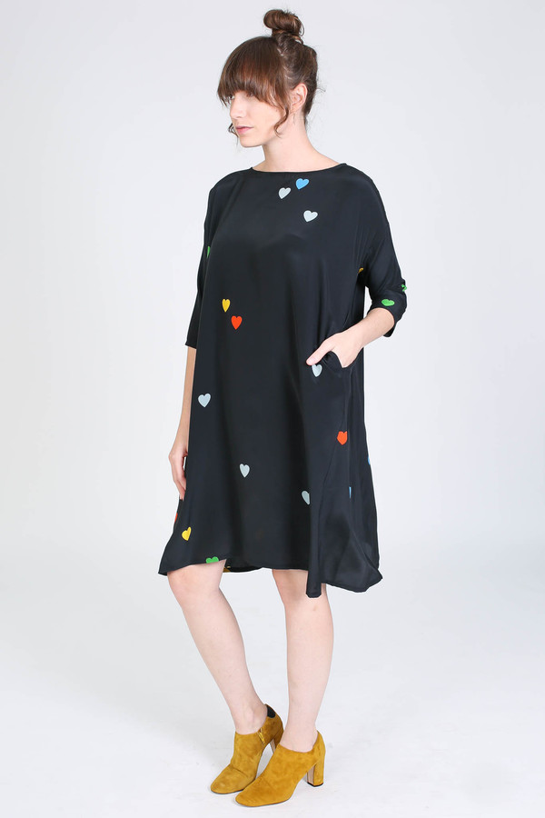 Creatures of Comfort Roman dress in heart print