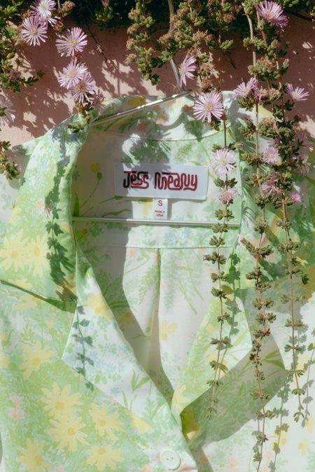 Jess Meany Laguna Lounge Shirt - Pastel Ferns
