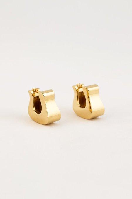 MM Druck Hoof Earrings - Vermeil