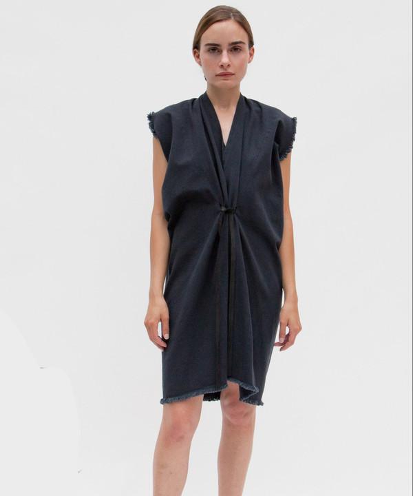 Miranda Bennett Black Denim Tribute Dress