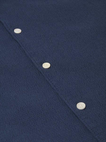 Wax London Seersucker Didcot S/S Shirt - Navy