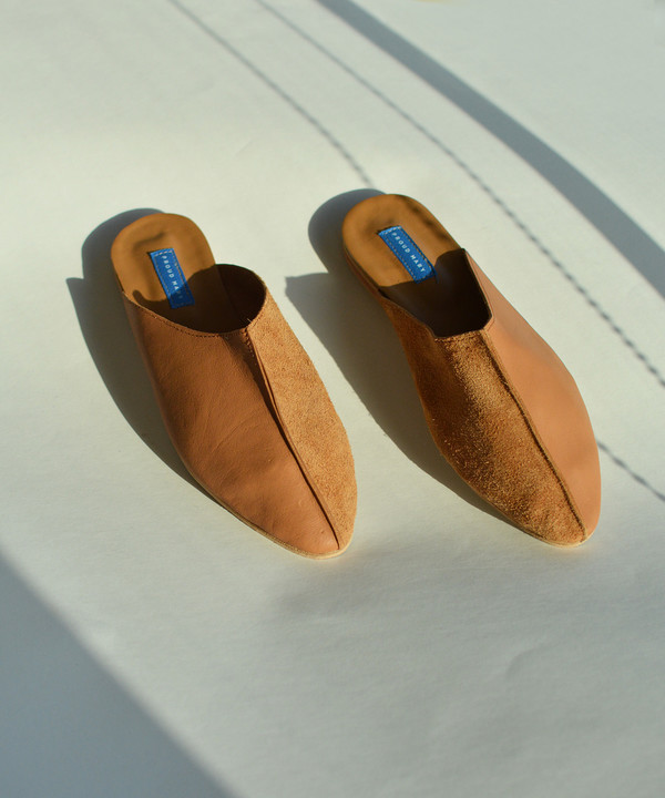 Proud Mary Tan Moroccan Leather Slide