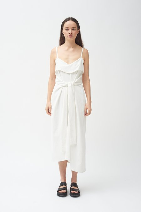 Colovos Tank Tie Front Dress