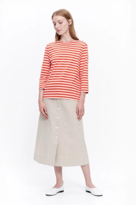 Marimekko Ilma Shirt - Orange/Peach