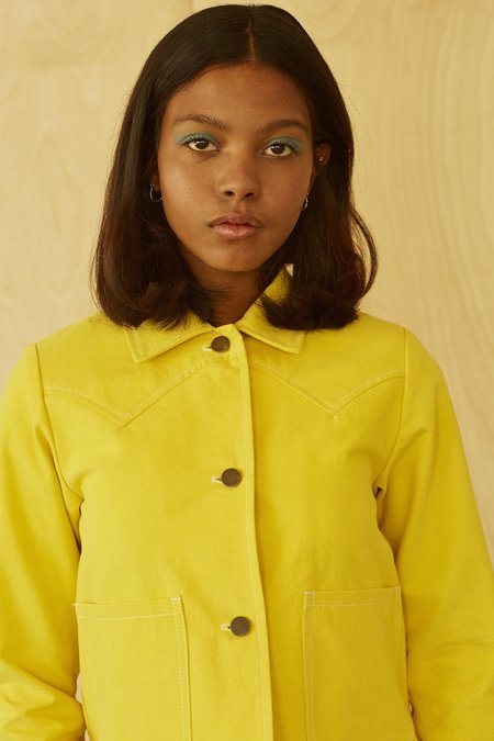 LYKKE WULLF SHRUNKEN RANCH JACKET - SULPHUR