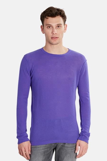 Blue&Cream Lightweight Cashmere Sweater Top - Purple