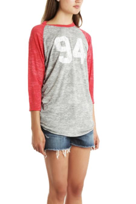 Blue&Cream x Gianni Ready To Die Baseball T-Shirt - Red