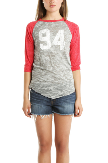 Blue&Cream x Gianni Teen Spirit Baseball T-Shirt - Red
