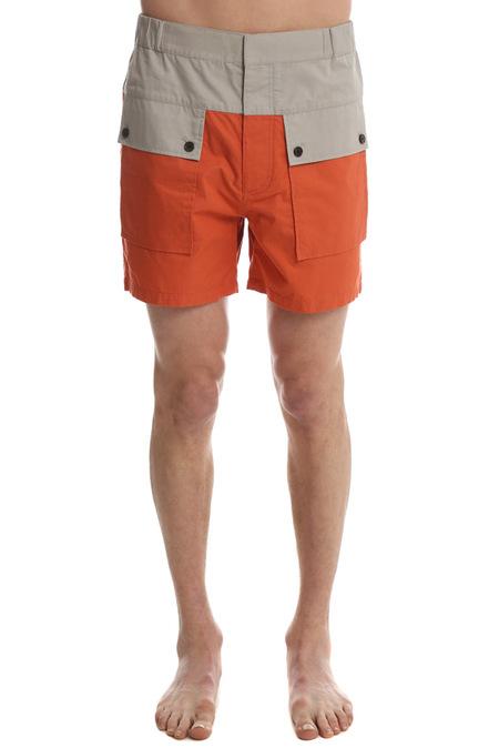 3.1 Phillip Lim Mens Color Block Board Short - Tangerine