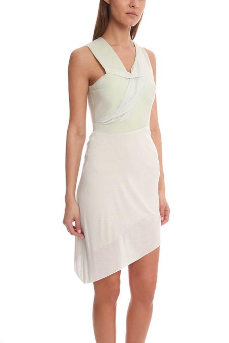 Hussein Chalayan Bonded Drape Dress - Mint