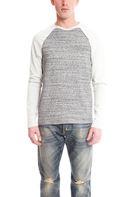 Blue&Cream Bowery Raglan Sweater - Tiger Stripe Charcoal