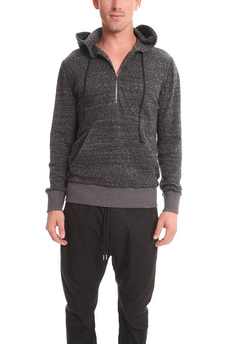 BCNY Blue&Cream 1/4 Zip Hoodie Sweater - Charcoal