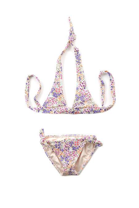 kids Shoshanna Bow Halter Bikini - Ditsy Floral