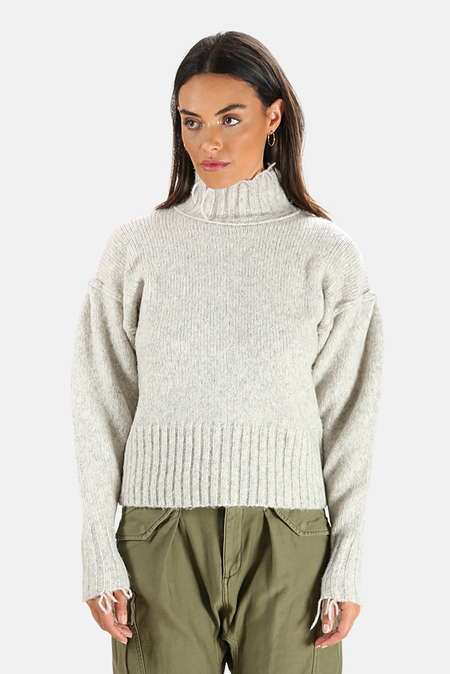 NSF Kori Turtleneck Sweater - Heather Grey