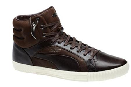 PUMA AMQ Street Climb Mid Leather Ebony Shoes - Ebony/Twilight Blue