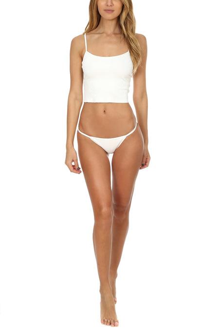 Solid & Striped The Kate Rib Bottom Swimwear - Ivory rib