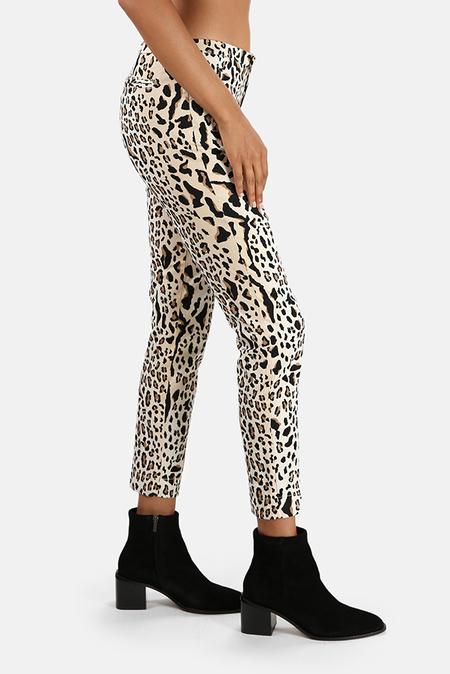 ATM Leopard Print Slim Pants - Black