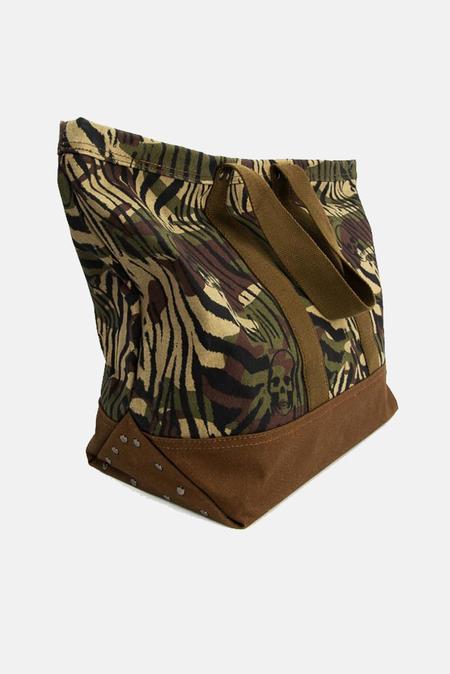 Lucien Pellat-Finet Zebra Camouflage Tote Bag - Green