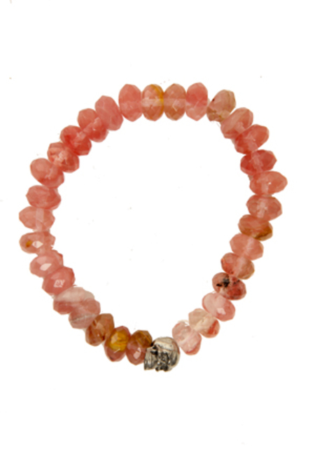 Duchess of Malfi Tourmaline Faceted Stone Bracelet - Peach
