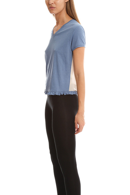 3.1 Phillip Lim V Neck T-Shirt - Blue