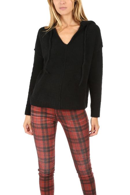 ATM Boho Hoodie Sweater - Black