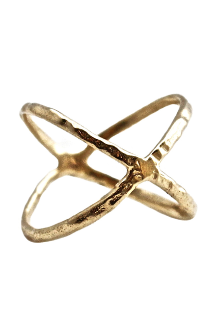 Nettie Kent Jewelry - Kiva Ring Brass