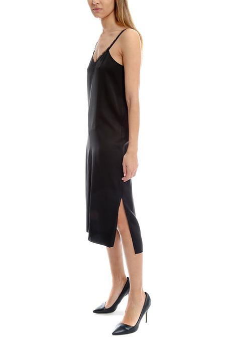 ATM Fringe Trim Cami Dress - Black