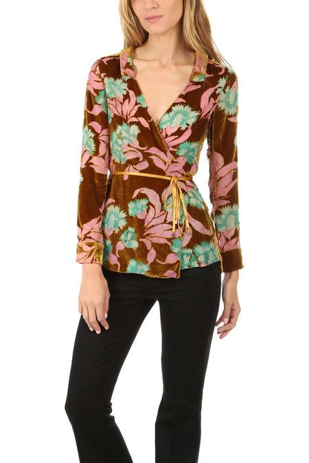SALONI Wrap Shirt - Paradise Azalea